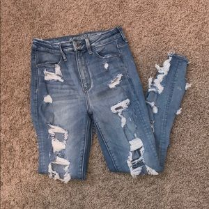 AE super ripped jeans